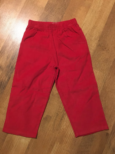 Boys Corduroy Pants - Red