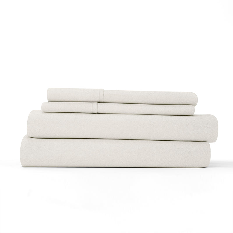 Ivory, Flannel 4-Piece Sheet Set, ALT4 Image