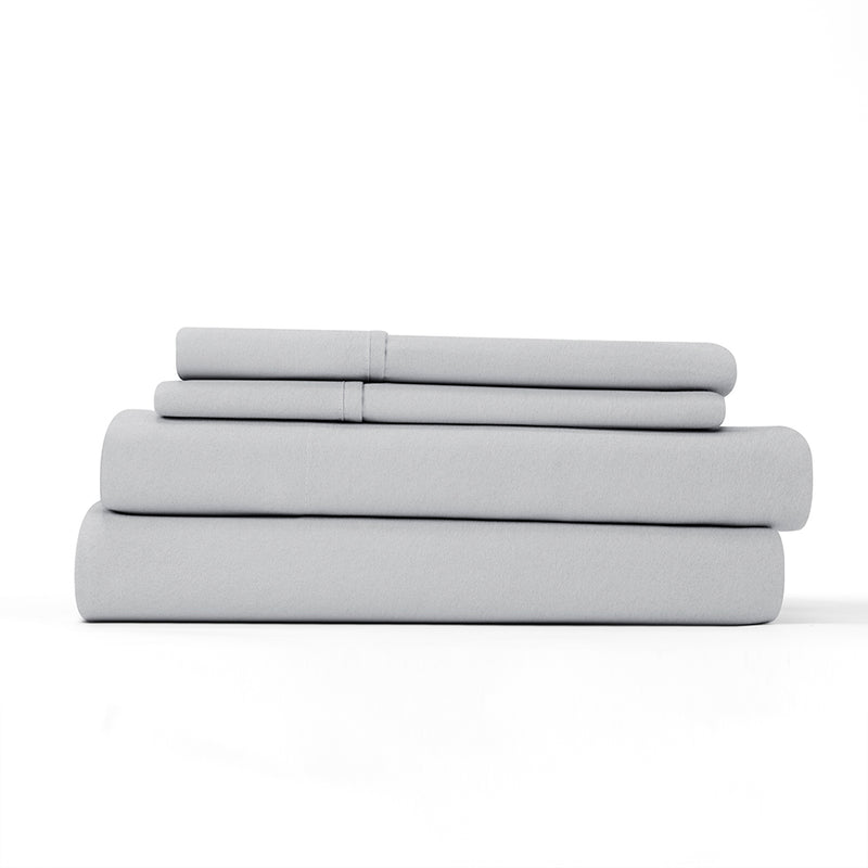 Light Gray, Flannel 4-Piece Sheet Set, ALT4 Image