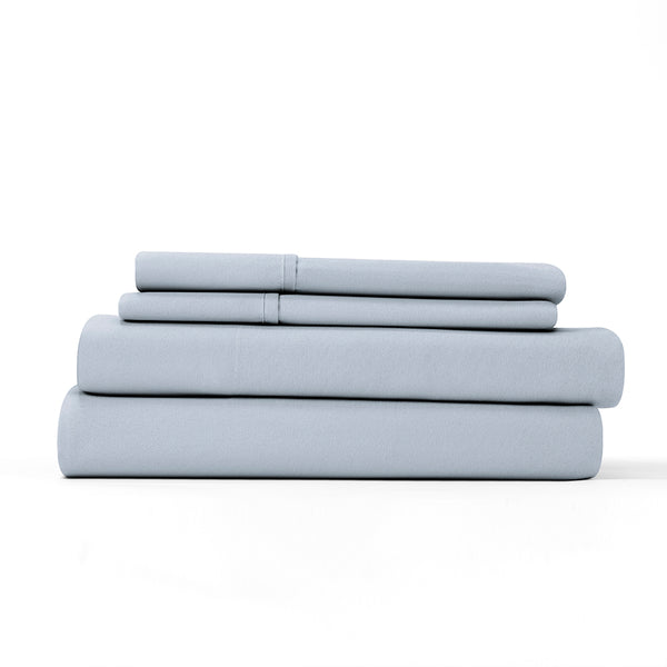 Light Navy, Flannel 4-Piece Sheet Set, ALT4 Image