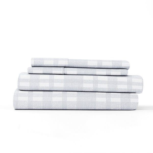 Light Blue, Woven 4-Piece Flannel Sheet Set, ALT4 Image