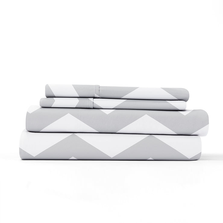 Arrow Patterned 4-Piece Sheet Set