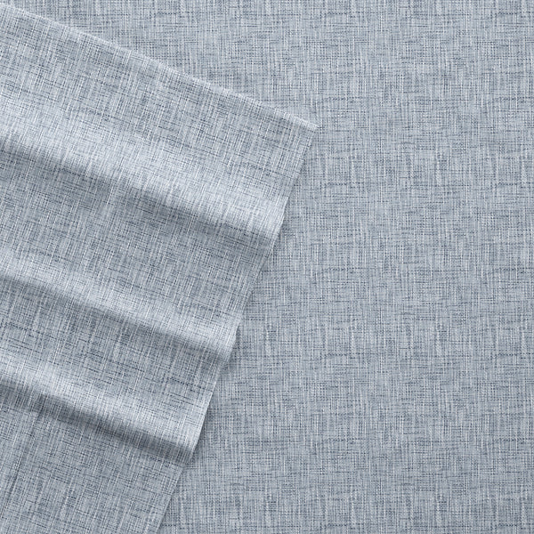 New Chambray Look Patterned 4-Piece Sheet Set