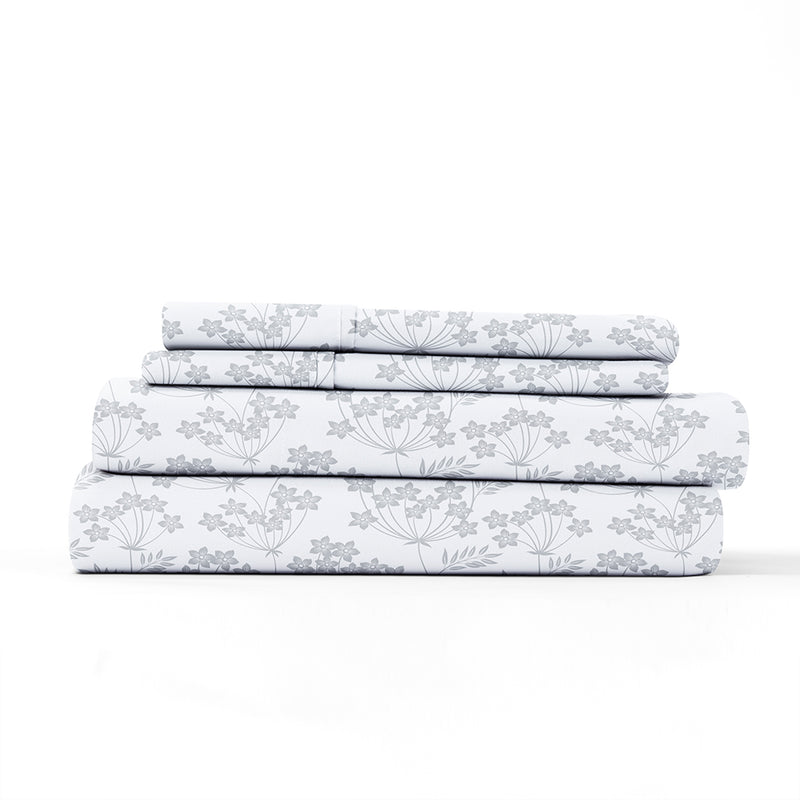 New Chantilly Lace Look Patterned 4-Piece Sheet Set