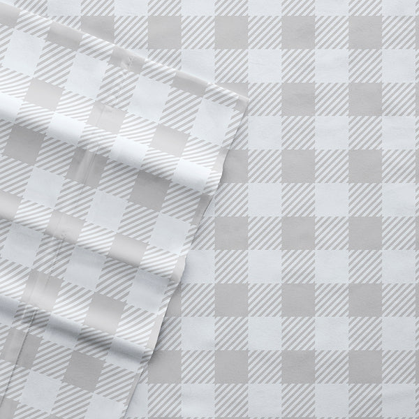 New Country Plaid Patterned 4-Piece Sheet Set