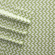 Puffed Chevron Patterned 4-Piece Sheet Set