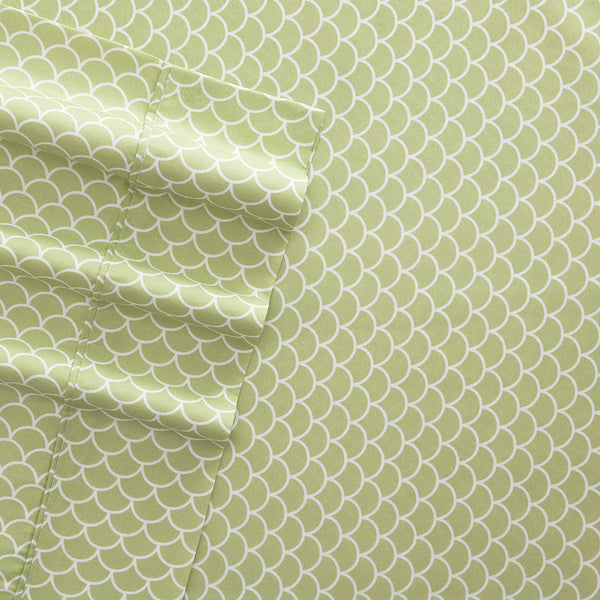 Premium Ultra Soft Scallops Pattern 4-Piece Sheet Set