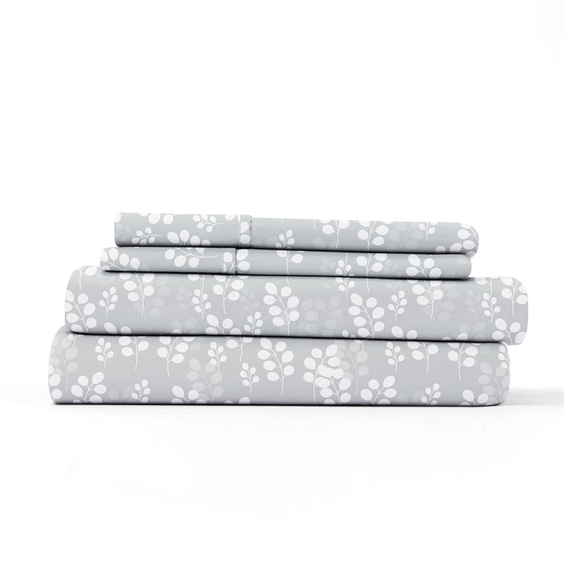 Gray, Wheatfield Pattern 4-Piece Sheet Set, ALT4 Image