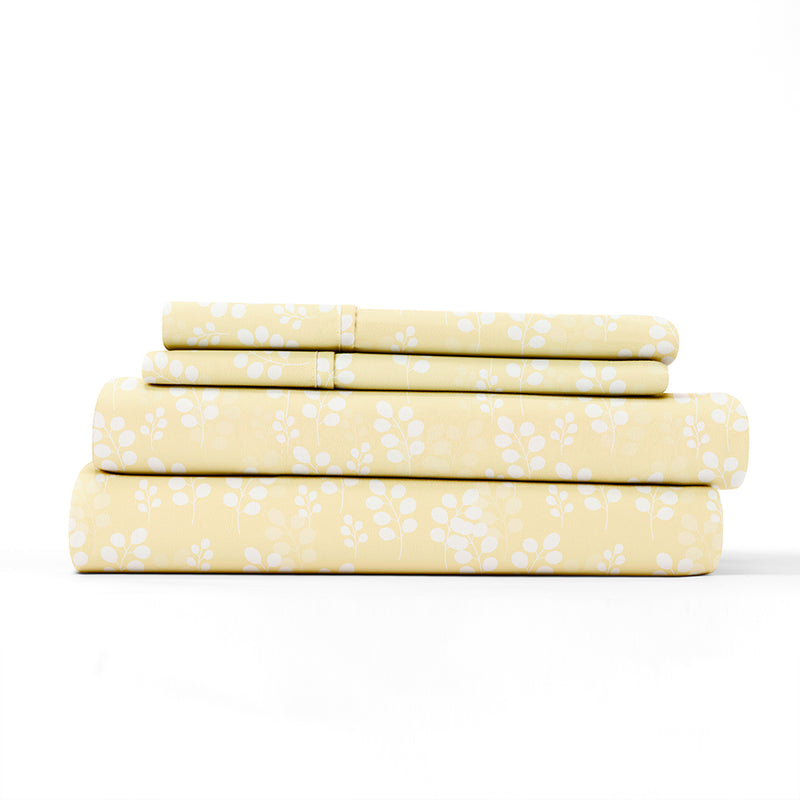 Ivory, Wheatfield Pattern 4-Piece Sheet Set, ALT4 Image