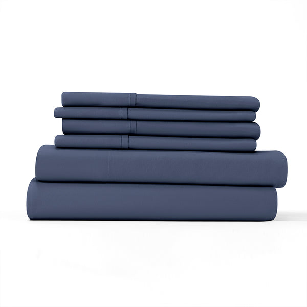 Navy, 6-piece Essential Sheet Set, ALT4 Image