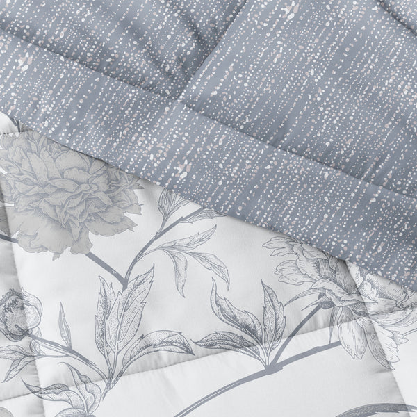 Light Blue, Molly Botanicals Reversible Down-Alternative Comforter Set, C3A Image