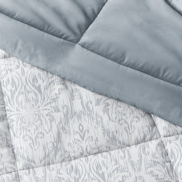 Light Blue, English Countryside Reversible Down-Alternative Comforter Set, C3A Image