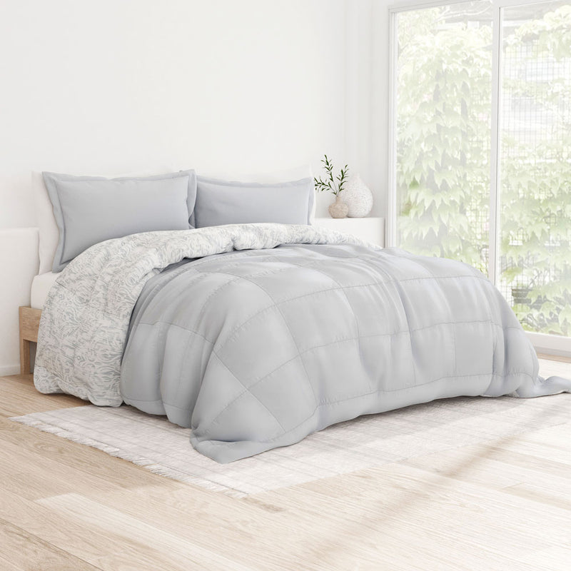 Reversible Down-Alternative English Countryside Comforter Set