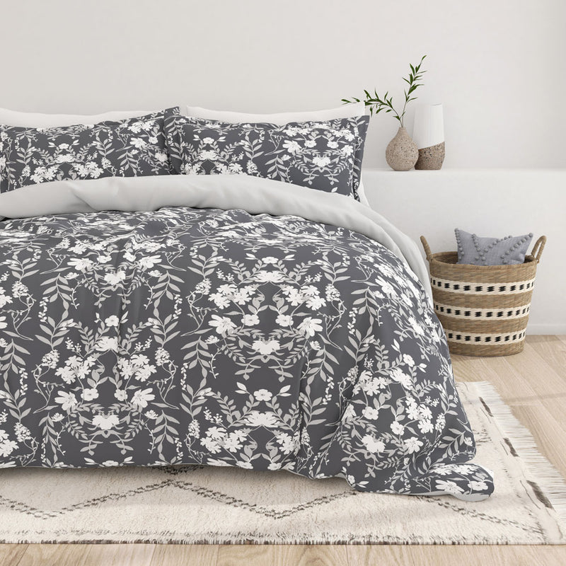Secret Garden 3-Piece Reversible Duvet Cover Set