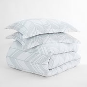 Alps Chevron Patterned 3-Piece Duvet Cover Set