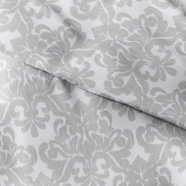 New Soft Damask Patterned 3-Piece Duvet Cover Set