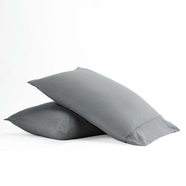 Gray, Premium Ultra Soft 2-Piece Pillow Case Set, ALT4 Image
