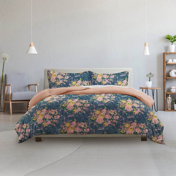 Made Supply Co. 3 Piece Bouquet Floral Reversible Comforter Set