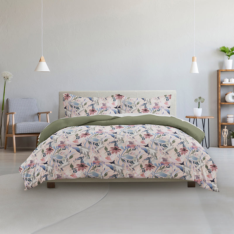 Made Supply Co. 3 Piece Watercolor Floral Reversible Comforter Set