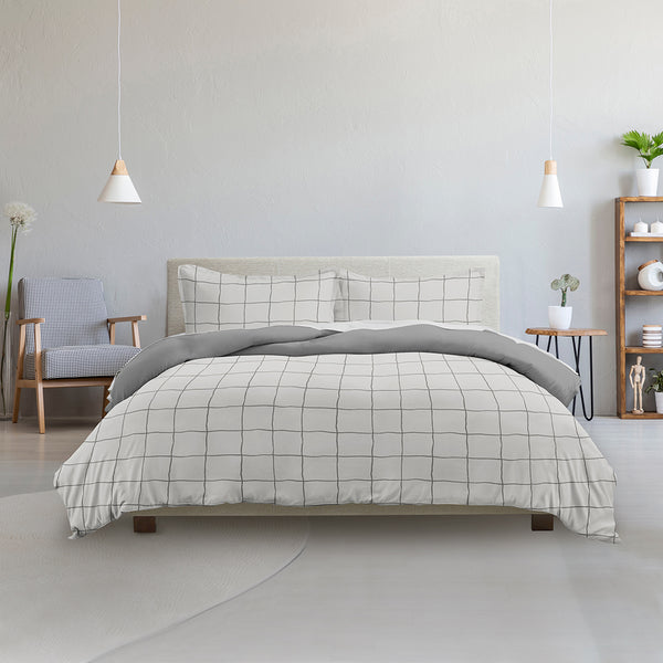 Made Supply Co. 3 Piece Plaid Reversible Comforter Set