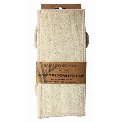 Bamboo & Loofah Exfoliating Back Strap-Bath & Shower Tools-The Beauty Editor