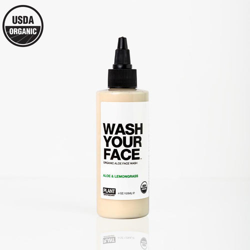WASH YOUR FACE Certified Organic Aloe Face Wash