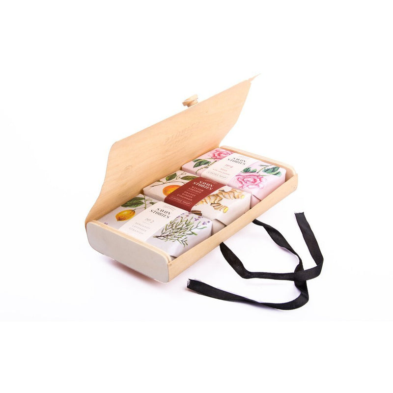 Wood Box Soap Gift Set - The Beauty Editor