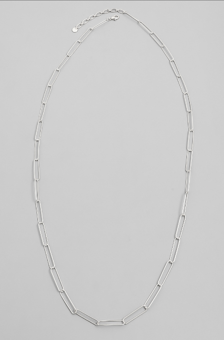 Oval Chain Necklace in Silver