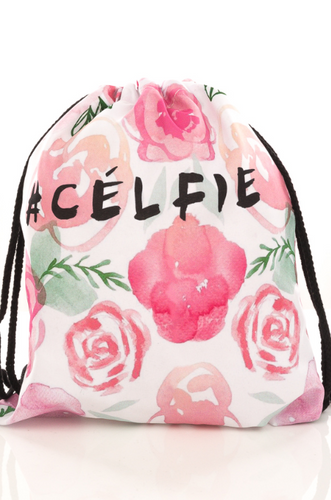Celfie Backpack with Pink Flowers