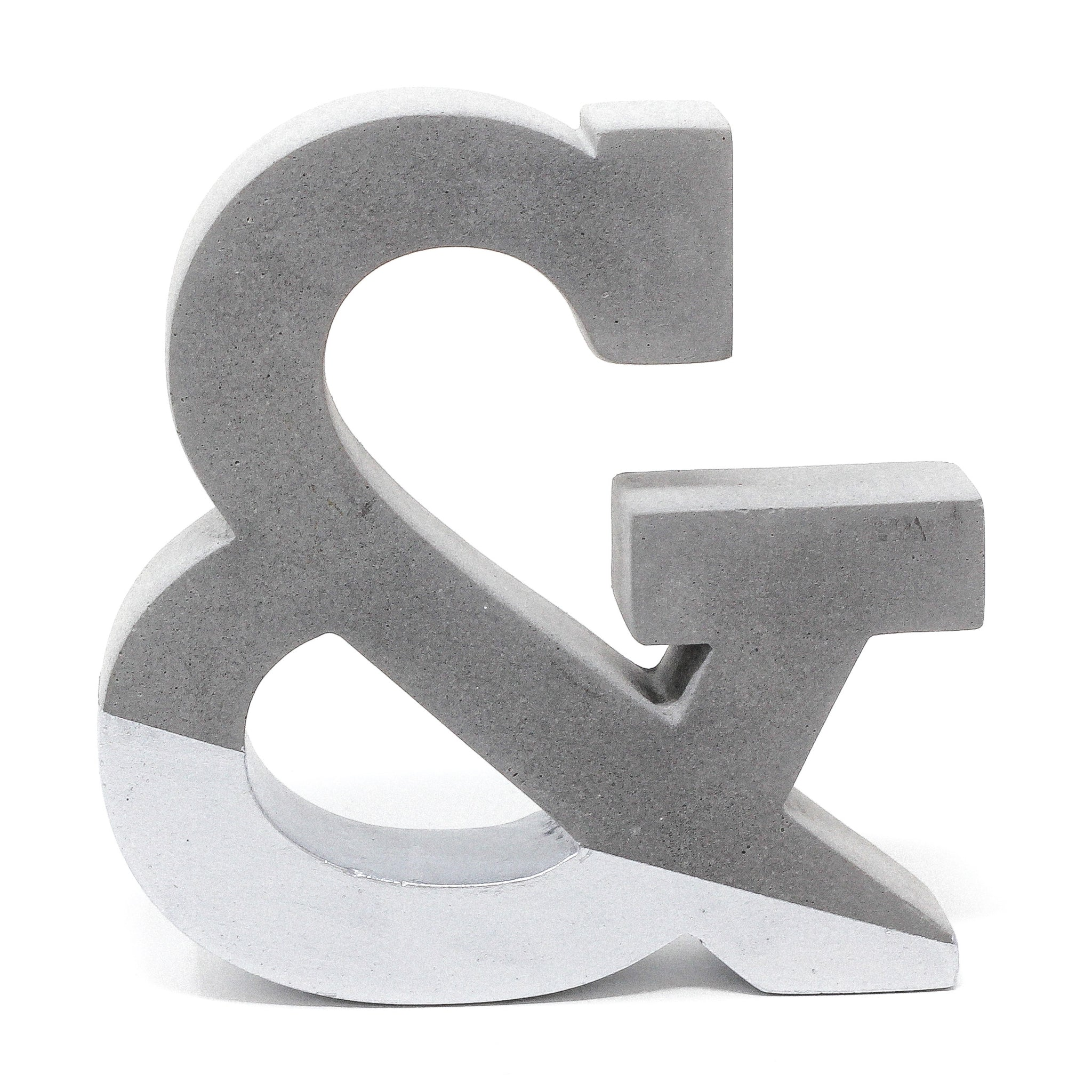 Concrete Ampersand: Silver
