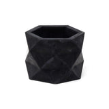Concrete Geometric Planter: Carbon Black Medium