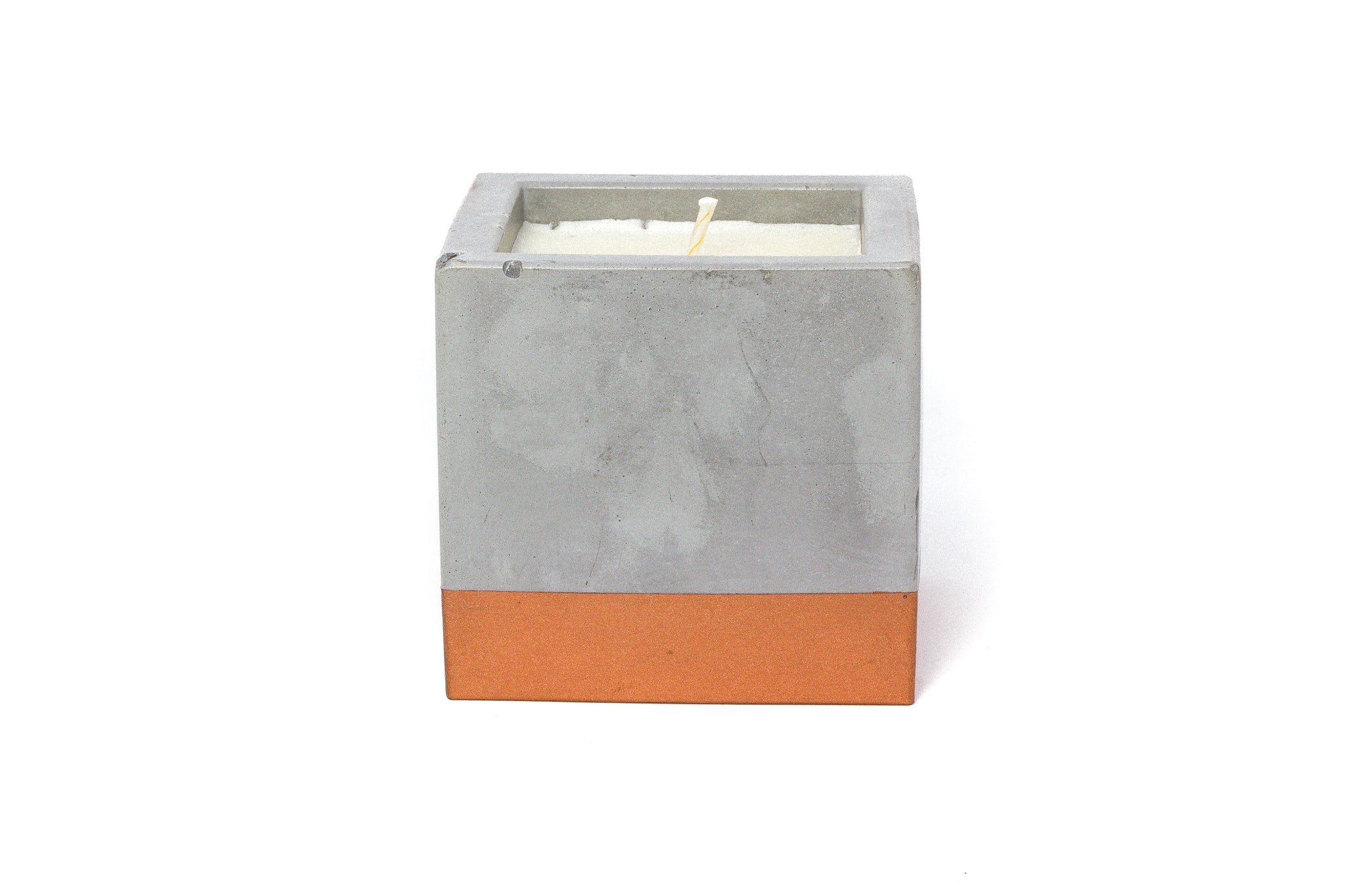 Concrete Cube Soy Candle: Snickerdoodle