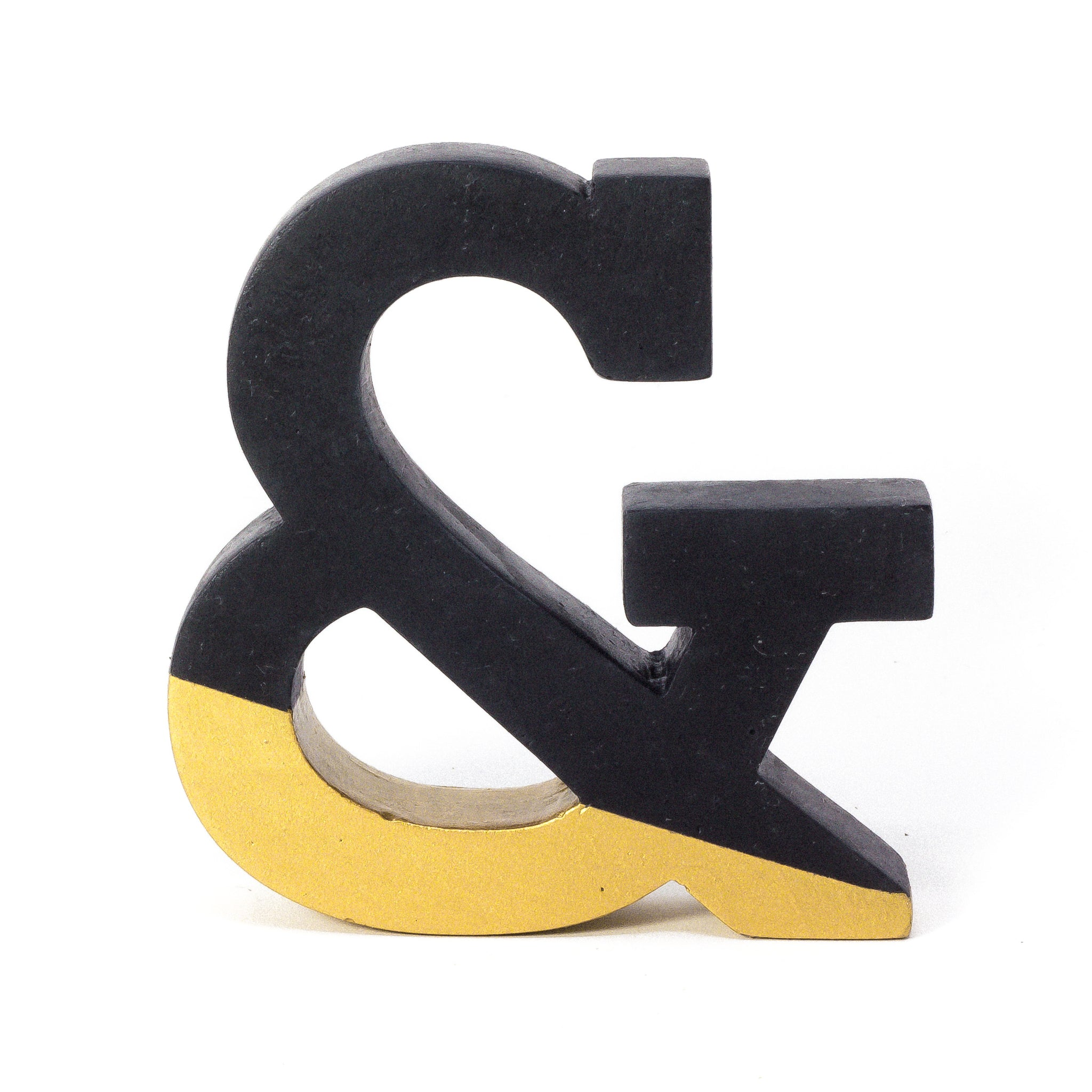 Concrete Ampersand: Black & Gold