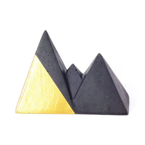 Concrete Mountain Range: Black & Gold
