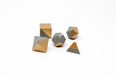 Geometric Shape Set: Gold