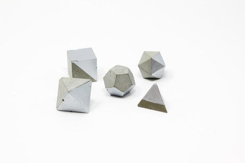 Geometric Shape Set: Silver