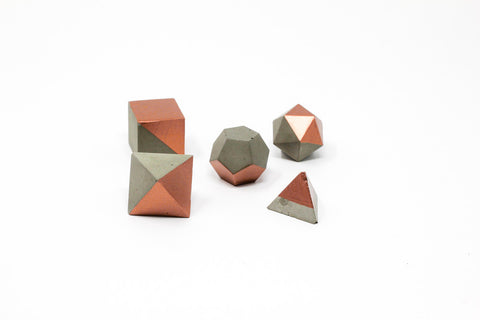Geometric Shape Set: Bronze