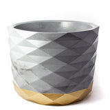 Concrete Archimedes Planter: Gold