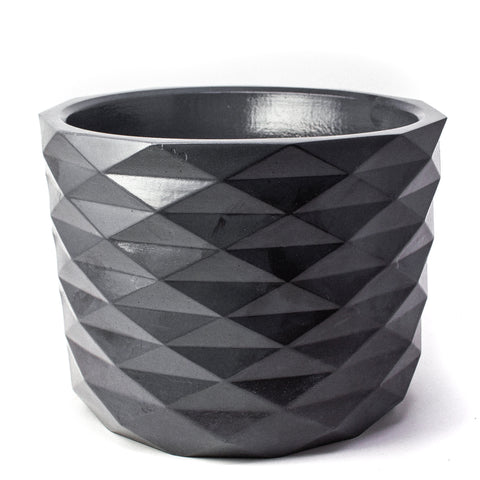 Concrete Archimedes Planter: Carbon Black