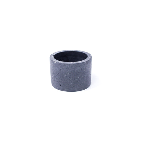 Concrete Planter: Short Cylinder (Sanded Black)