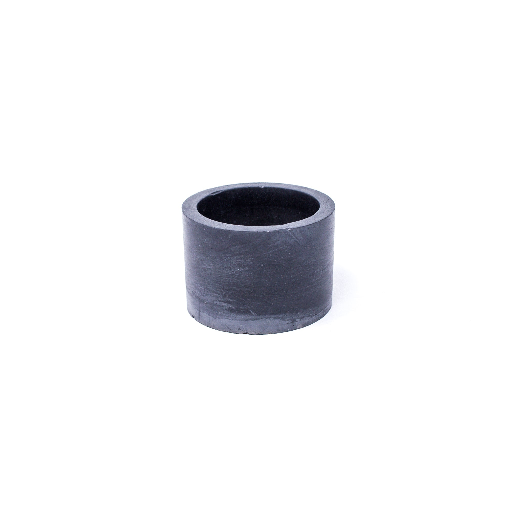 Concrete Planter: Short Cylinder (Black Marble)