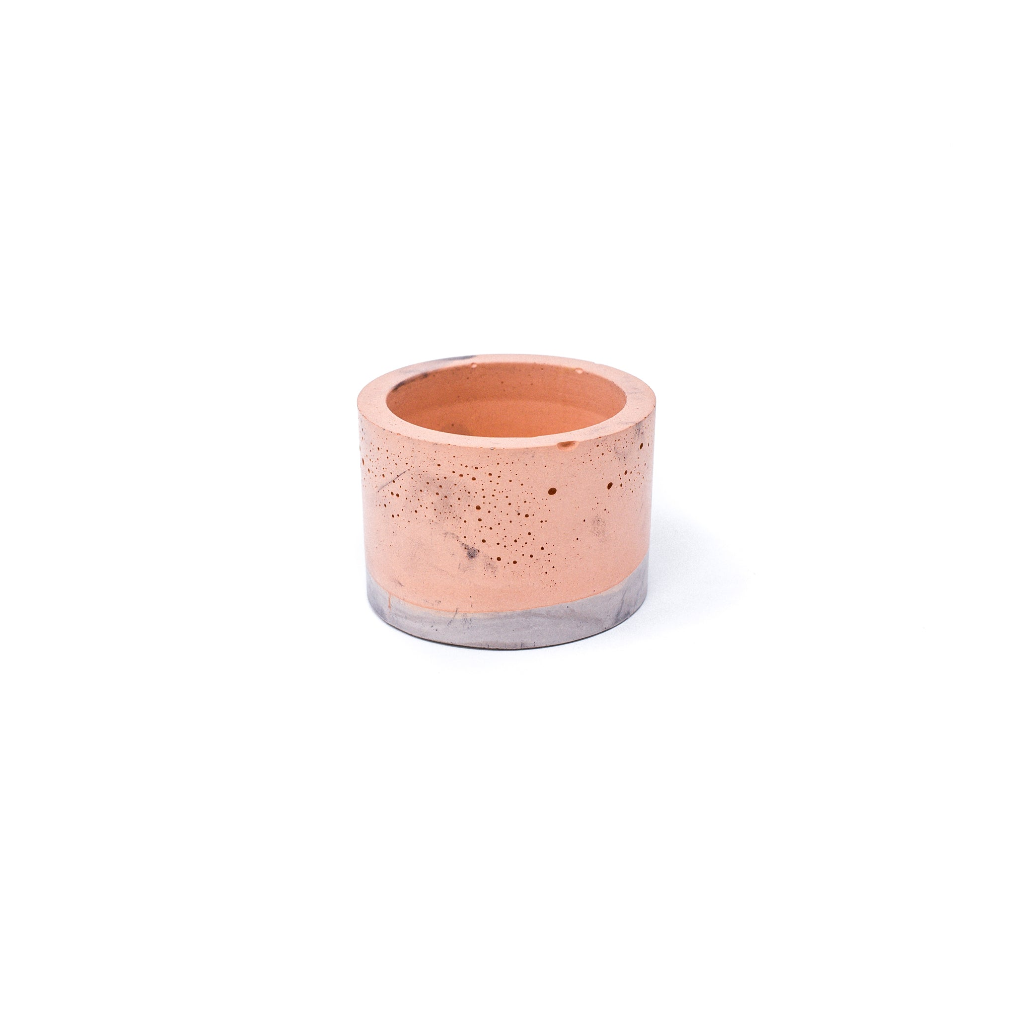 Concrete Planter: Short Cylinder (Orange & Gray)
