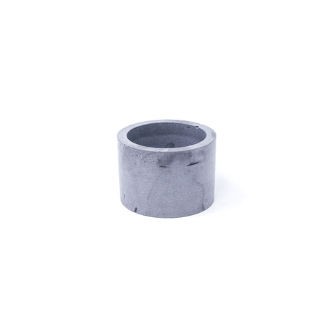 Concrete Planter: Short Cylinder (Gray Speckled)
