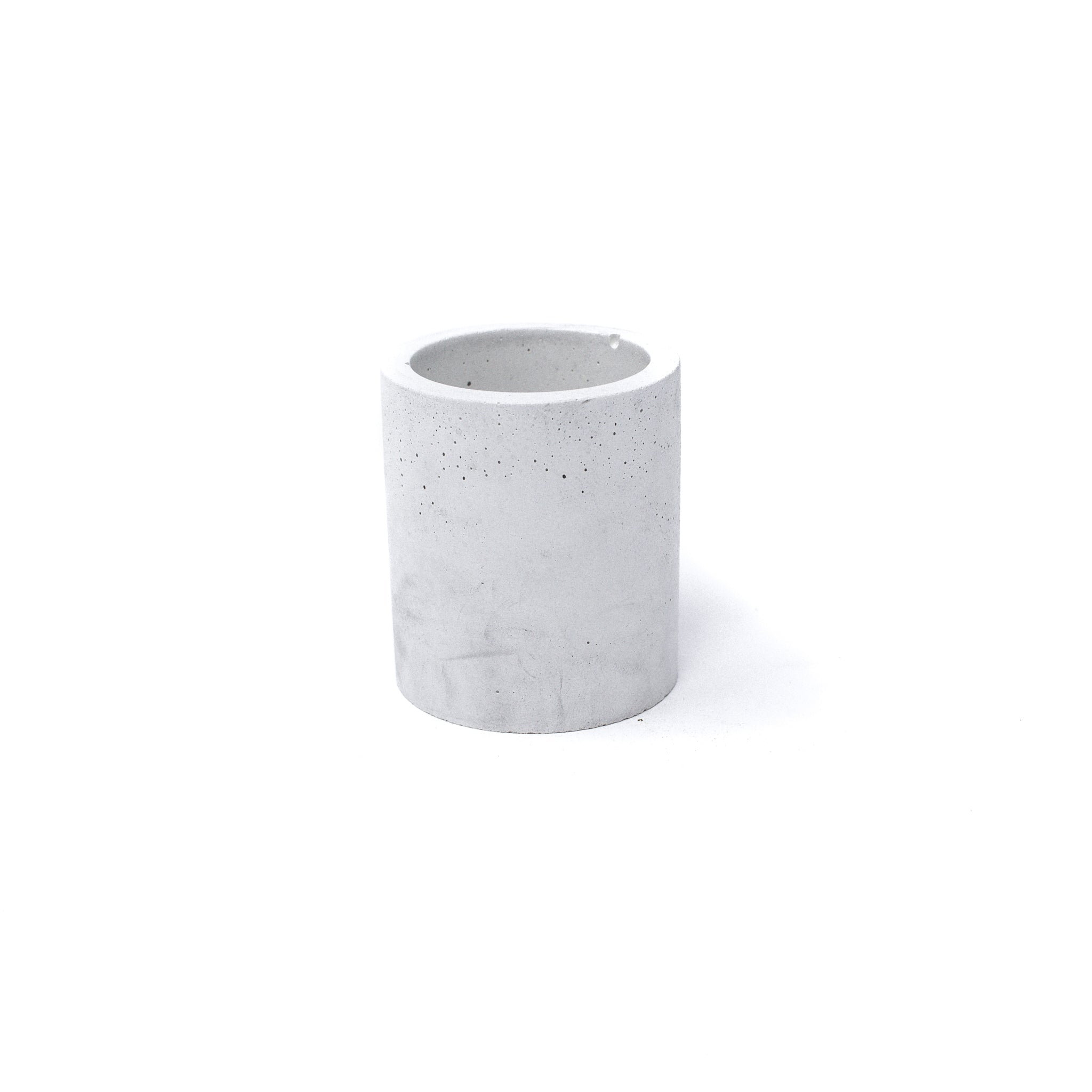 Concrete Planter: Tall Cylinder (Light Gray)