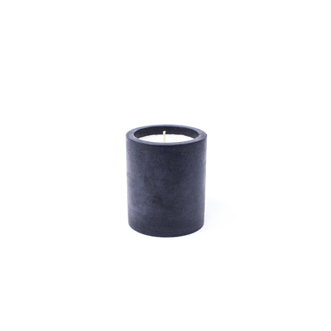 Concrete Tall Cylinder Soy Candle: Black Sea