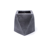 Concrete Geometric Vase (Dark Gray)