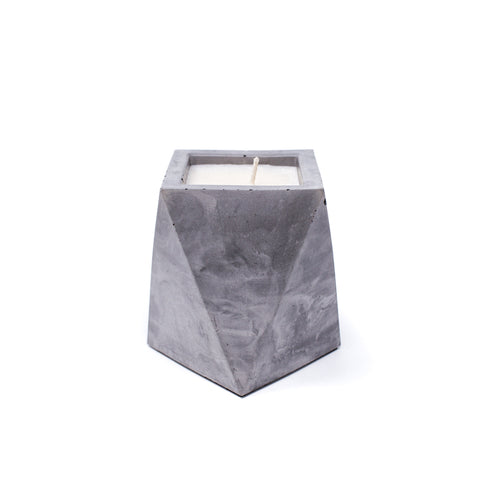 Concrete Geometric Vase Soy Candle: Gingerbread
