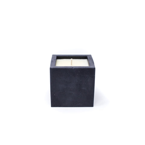 Concrete Cube Soy Candle: Cedarwood Vanilla