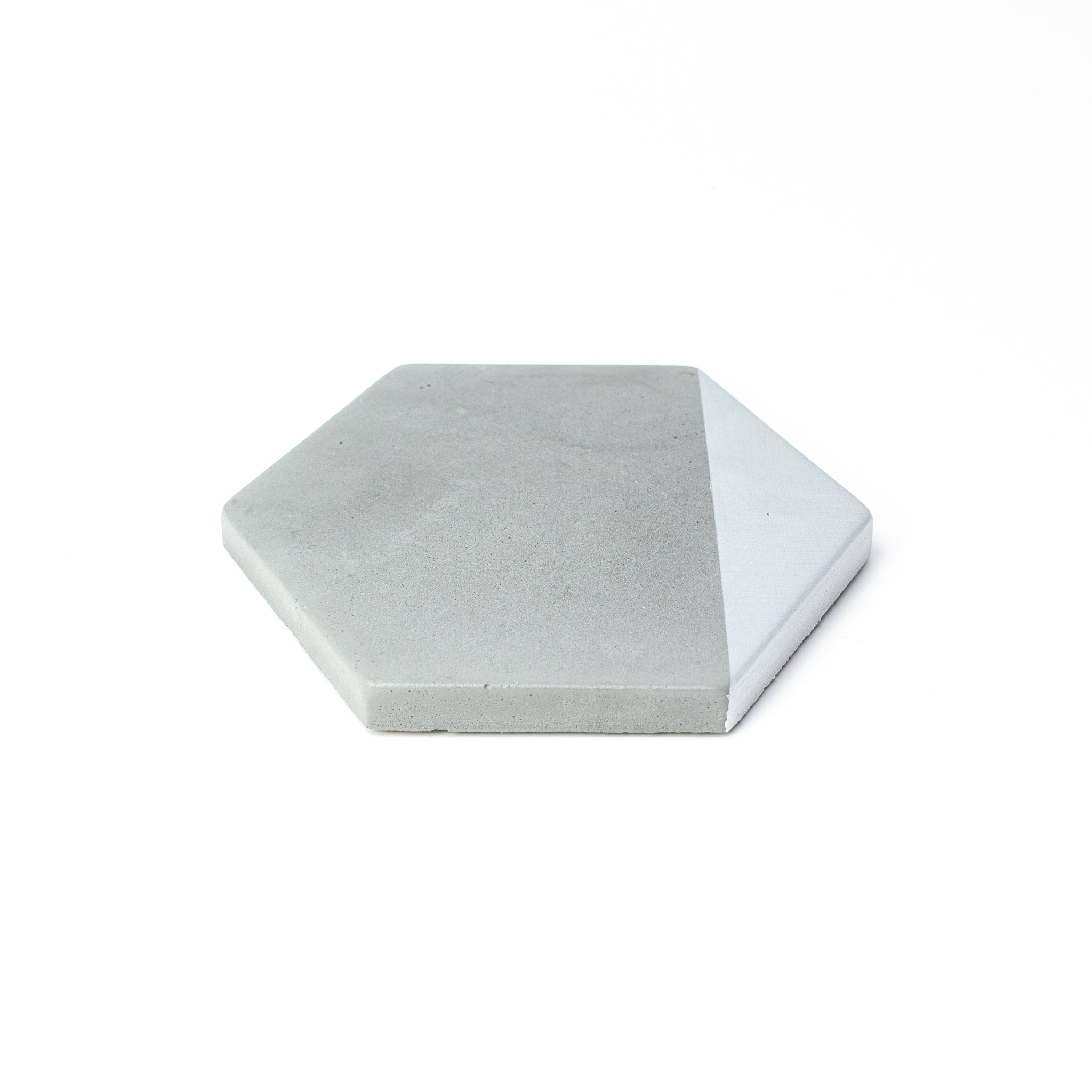 Concrete Hexagon Coaster: Silver