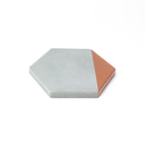 Concrete Hexagon Coaster: Bronze